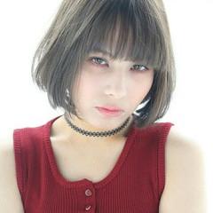 ストレート アッシュ モード グラデーションカラー ヘアスタイルや髪型の写真・画像