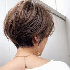 ショートヘア フェミニン ショートボブ ショート ヘアスタイルや髪型の写真・画像