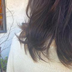 ミディアム チョコレート ナチュラル ショコラブラウン ヘアスタイルや髪型の写真・画像