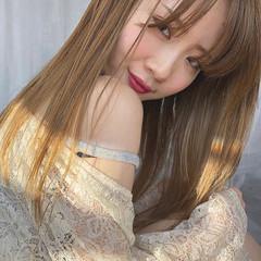 ハイライト 色気 ロング フェミニン ヘアスタイルや髪型の写真・画像