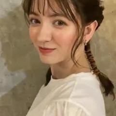 ロング 前髪あり 簡単ヘアアレンジ 結婚式ヘアアレンジ ヘアスタイルや髪型の写真・画像