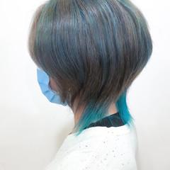 メンズカラー デザインカラー ハイトーンカラー インナーカラー ヘアスタイルや髪型の写真・画像