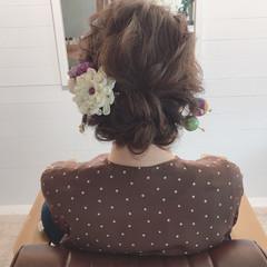 ナチュラル ゆるふわ デート ヘアアレンジ ヘアスタイルや髪型の写真・画像