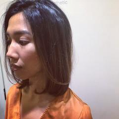 グラデーションカラー パーマ オフィス ナチュラル ヘアスタイルや髪型の写真・画像