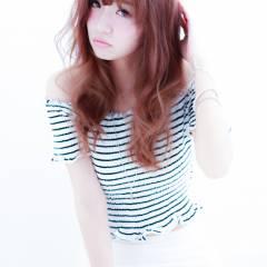 モテ髪 愛され セミロング 外国人風 ヘアスタイルや髪型の写真・画像