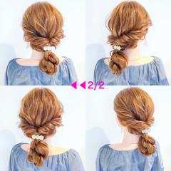 結婚式 簡単ヘアアレンジ ヘアアレンジ アウトドア ヘアスタイルや髪型の写真・画像