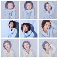 ガーリー ゆるふわ フェミニン ショート ヘアスタイルや髪型の写真・画像
