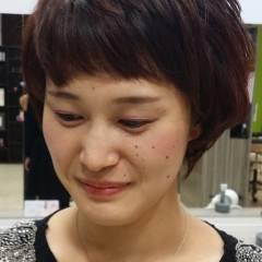 秋 ガーリー オン眉 卵型 ヘアスタイルや髪型の写真・画像