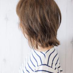 ナチュラル 大人可愛い ミディアム ネオウルフ ヘアスタイルや髪型の写真・画像