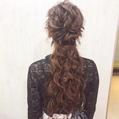 ナチュラル アンニュイほつれヘア 結婚式 デート ヘアスタイルや髪型の写真・画像