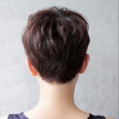 ナチュラル ショート 大人かわいい ベリーショート ヘアスタイルや髪型の写真・画像