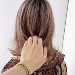 ハイライト ショートヘア ミディアム ナチュラル ヘアスタイルや髪型の写真・画像