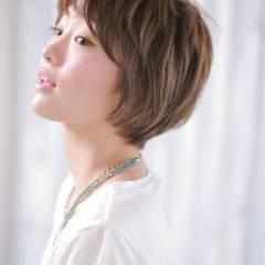 モテ髪 ガーリー 外国人風 ショート ヘアスタイルや髪型の写真・画像