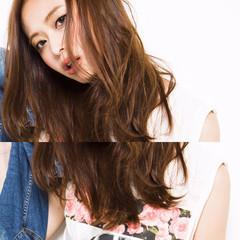 外国人風 アッシュ ブラウン セミロング ヘアスタイルや髪型の写真・画像