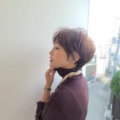 ショートボブ ショートヘア ショート 丸みショート ヘアスタイルや髪型の写真・画像