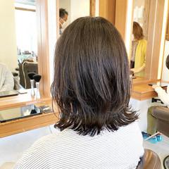 ナチュラル モテボブ ミディアム レイヤーボブ ヘアスタイルや髪型の写真・画像