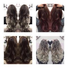 ダブルカラー ロング 外国人風カラー ハイライト ヘアスタイルや髪型の写真・画像