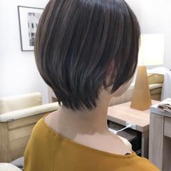 極細ハイライト ショート ショートヘア ハイライト ヘアスタイルや髪型の写真・画像