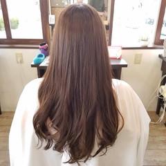 フェミニン ロング イルミナカラー ピンクアッシュ ヘアスタイルや髪型の写真・画像