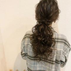 ポニーテール 結婚式 ヘアセット ロング ヘアスタイルや髪型の写真・画像