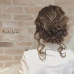 ヘアアレンジ ミディアム 外国人風 大人かわいい ヘアスタイルや髪型の写真・画像