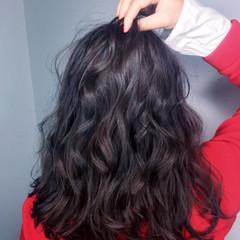 ニュアンス ハイライト 上品 セミロング ヘアスタイルや髪型の写真・画像