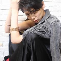 黒髪 ストレート ストリート ショート ヘアスタイルや髪型の写真・画像