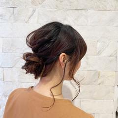 ヘアアレンジ 結婚式 簡単ヘアアレンジ セミロング ヘアスタイルや髪型の写真・画像