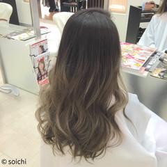 渋谷系 グラデーションカラー 外国人風 レイヤーカット ヘアスタイルや髪型の写真・画像