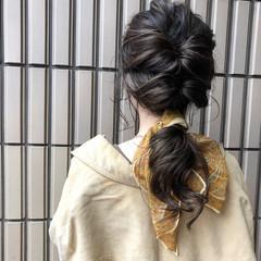 ナチュラル ロング ヘアアレンジ 3Dハイライト ヘアスタイルや髪型の写真・画像