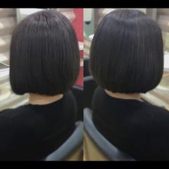 髪質改善カラー ボブ 髪質改善トリートメント ナチュラル ヘアスタイルや髪型の写真・画像