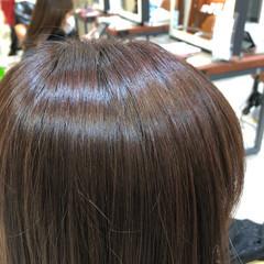 ミディアム ブルージュ 透明感カラー 大人かわいい ヘアスタイルや髪型の写真・画像