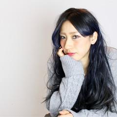 アッシュ 大人女子 ロング 黒髪 ヘアスタイルや髪型の写真・画像