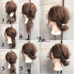 簡単ヘアアレンジ エレガント 大人女子 シニヨン ヘアスタイルや髪型の写真・画像