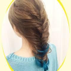 ヘアアレンジ ダブルカラー セミロング イノセントカラー ヘアスタイルや髪型の写真・画像
