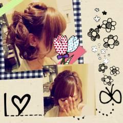 アップスタイル 三つ編み ルーズ ヘアアレンジ ヘアスタイルや髪型の写真・画像