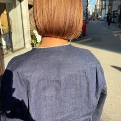 透明感カラー ミニボブ ブリーチ ショート ヘアスタイルや髪型の写真・画像