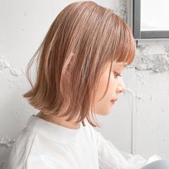 アンニュイほつれヘア パーティ ボブ ガーリー ヘアスタイルや髪型の写真・画像