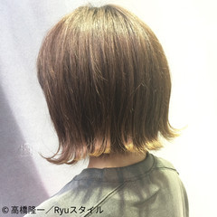 グラデーションカラー ボブ アッシュ グレージュ ヘアスタイルや髪型の写真・画像