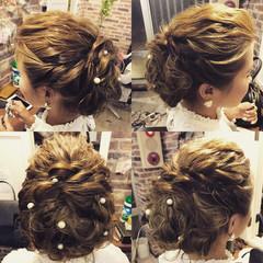 結婚式 ロング デート ウェーブ ヘアスタイルや髪型の写真・画像