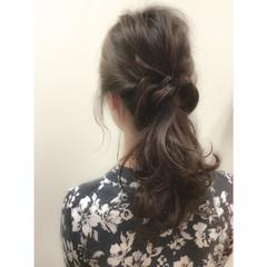 パーティ ロング ハーフアップ 大人かわいい ヘアスタイルや髪型の写真・画像