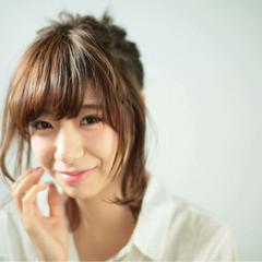 外国人風 簡単ヘアアレンジ 大人かわいい ショート ヘアスタイルや髪型の写真・画像