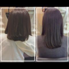 ナチュラル 艶髪 ミディアム 髪質改善トリートメント ヘアスタイルや髪型の写真・画像