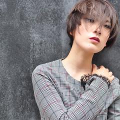 ブラウン 透明感 外国人風 ショート ヘアスタイルや髪型の写真・画像