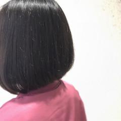 前下がり ボブ 時短 ナチュラル ヘアスタイルや髪型の写真・画像