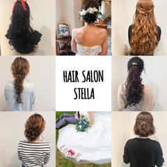 ヘアアレンジ フェミニン アップ セミロング ヘアスタイルや髪型の写真・画像