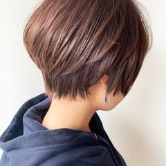 大人かわいい ショートボブ ショート 丸みショート ヘアスタイルや髪型の写真・画像