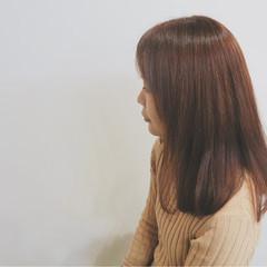 大人かわいい ガーリー セミロング ヘアスタイルや髪型の写真・画像