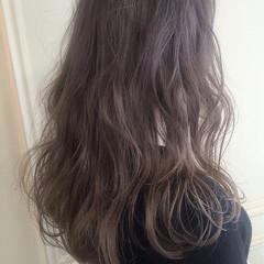 アッシュ ゆるふわ 春 ロング ヘアスタイルや髪型の写真・画像