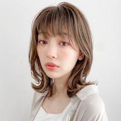 外ハネボブ ミディアム 大人かわいい デジタルパーマ ヘアスタイルや髪型の写真・画像